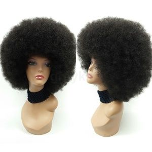 Large Black Curly Afro Wig